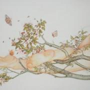 """"""" La branche """" 175 x 115 cm Sold"""