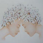""" Âmes soeurs "" 105 x 100 cm"