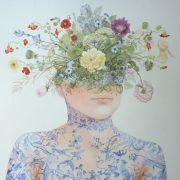""""""" Bouquet Sibylle, la joie """" 175 x 115 cm"""