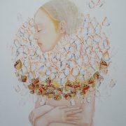 Fraise-Papillon 77.5 x 77.5 cm