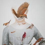 Coeur cardinal 90 x 100 cm