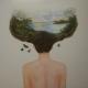 Une mer de temps- 2014- 122 x 106 cm Sold