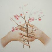 """ Branches enlacées "" 60 x 60 cm"