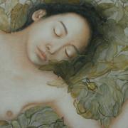 Ophélie, détail 105 x 74 cm