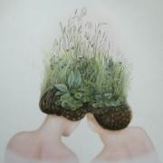 """"""" Touffe d'herbes """" 120 x 120 cm"""