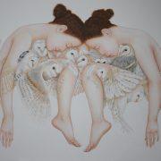 Coeurs blancs 100 x 120 cm