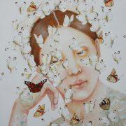 """Lumière papillon"""" detail 124 x 94 cm"""