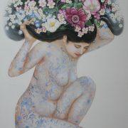 """"""" Bouquetier """" 123 x 75 cm"""